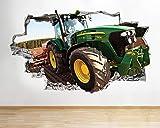 H053 Traktor Kinder Cool Boys Kinderzimmer Wandtattoo
