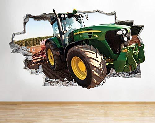 H053 Traktor Kinder Cool Boys Kinderzimmer Wandtattoo Poster 3D Kunst Aufkleber Vinyl Zimmer