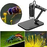 Generic Tragbare elektronische USB 2.0Digital Mikroskop 1000x Endoskop 8LED 2Millionen Pixel Practic Lupe Mikroskop Kamera Schwarz