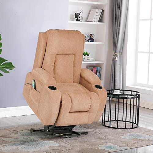 Lift Chair Recliners,Power Lift Chairs for Elderly 160 Degree Recline Soft Warm Fabric Sofa Living Room Chair with Remote Control Gentle Motor