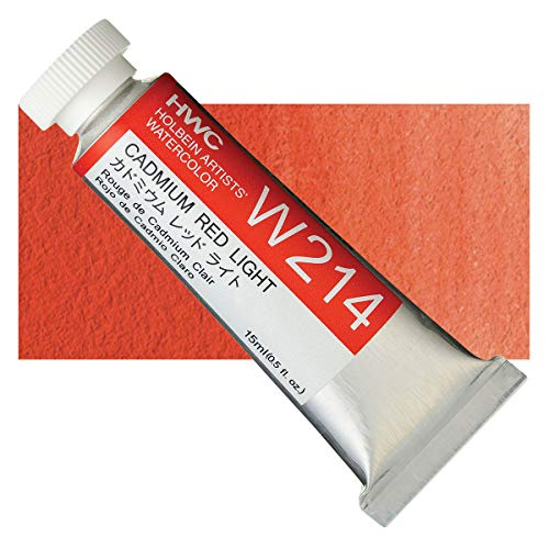Holbein Artist's Watercolor 15ml Tube (Cadmium Red Light) W214