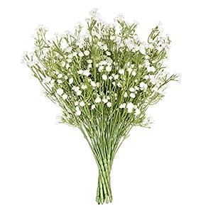 Royal Imports Artificial Baby Breath Gypsophilia Flowers Silk – 12 Single Stems for Bouquet, Home Decoration, Wedding Centerpiece, Wreaths, Floral Arrangements, White