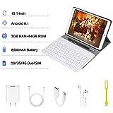 Tablette Tactile 10 Pouces Pas Cher 4G Android 8.1 Quad Core 3Go RAM 64Go ROM DUODUOGO P8 Batterie 8500mAh Netflix Double Caméras Doule SIM/WiFi/BT/OTG (P8-Or)