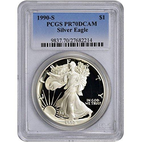 1990 S American Silver Eagle $1 PR-70 PCGS