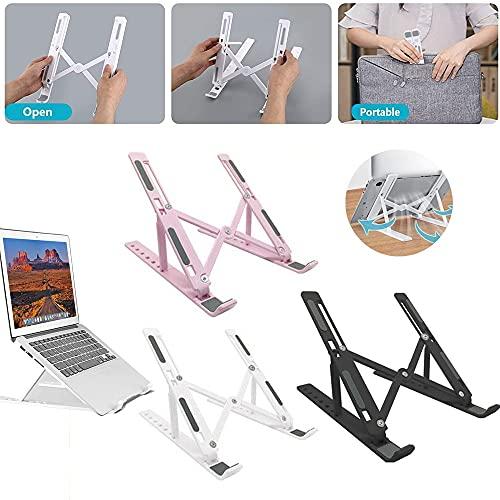 Soporte para computadora portátil Soporte para Tableta Soporte Plegable de Escritorio Soporte Vertical Ajustable Soporte portátil Accesorios para computadora portátil y Tableta