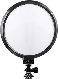 Viltrox VL-300T Ultrathin Bi-Color Dimmable 7 Inch Circular LED Video Light 3300K-5600K CRI 95+ Max. Power 18W for Portrait Children Macro Still Life Photography