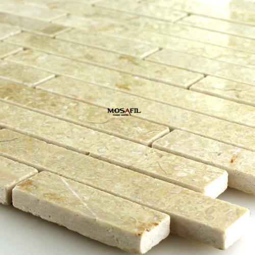 Marmor Naturstein Mosaik Fliesen Hellbeige Poliert