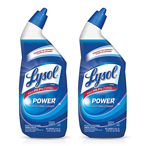 Lysol Power Toilet Bowl Cleaner, 24 Ounce (Pack of 2)