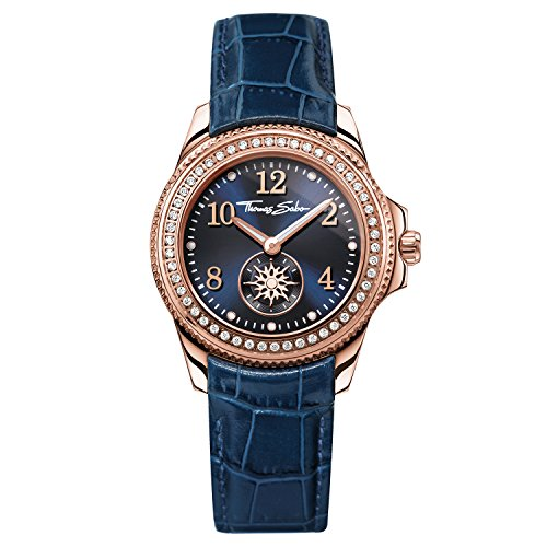 Thomas Sabo Damen-Armbanduhr Analog Quarz Leder WA0216-270-209-33 mm