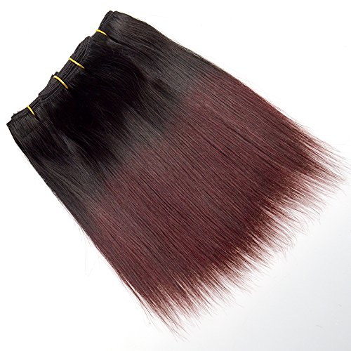 Top Quality Dark Roots 1b/99J Ombre Hair Short Curly Wavy Fashion Hair for Black Women Hot Sale