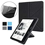 ISeeSee Kindle Oasis Case for All-New Kindle Oasis (10th and 9th Gen, 2019 and 2017 Release)- Slim Fit Stand Cover Support Hands Free Reading with Auto Wake Sleep,Black