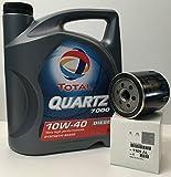 Total Pack Quartz 7000 Diesel 10W40 5 litros + Filtro Original Peugeot/Citroen 1109AL