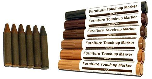JJOnlineStore Touch-up-Kit Möbelreparatur-Set, Wachsstifte, Filzstifte, 12 Stück