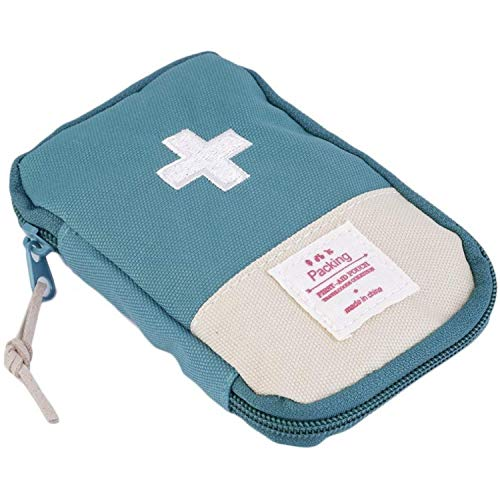 Runilex Small First Aid Kit Travel Pouch Medicine Storage Bag (Multicolor)