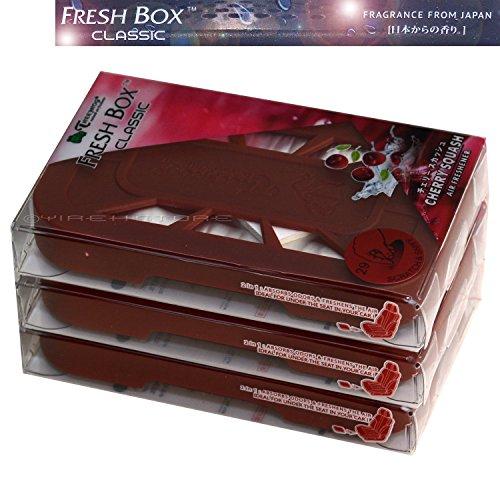 Treefrog Fresh Box Classic 3-Pack Cherry Squash Scent Air Freshener/Air Freshener Refill Cartridge