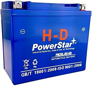 PowerStar-YTX20L BS YTX20LBS Battery Yamaha Grizzly 600 660 700 AGM GEL SEALED 3 YR WARRAN