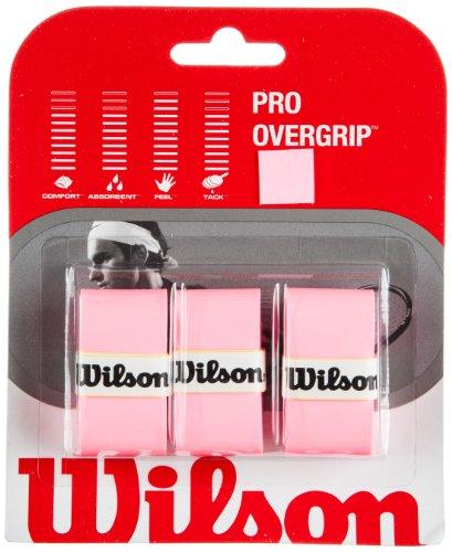 WILSON Pro Overgrip–3er-Set Griffbänder für Tennisschläger, Rosa