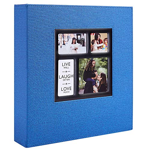 Ywlake Photo Album 4x6 1000 Pockets Photos Linen Cover, Extra Large Capacity Family Wedding Picture Albums Holds 1000 Horizontal and Vertical Photos Blue