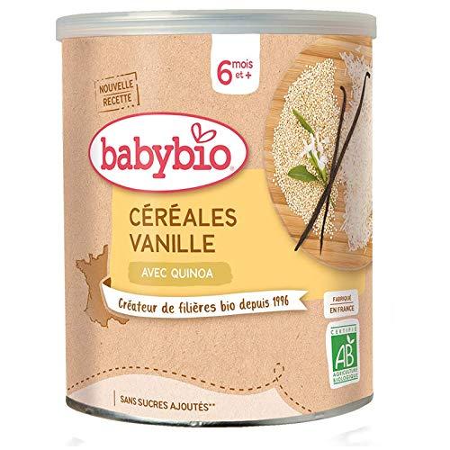 Babybio - Céréales Vanille avec Quinoa Bio 220 g - 6+ Mois - BIO - lot de 3