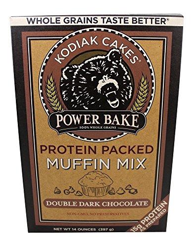 Kodiak Cakes - Protein Packed Power Bake Muffin Mix Double Dark Chocolate - 14 oz.