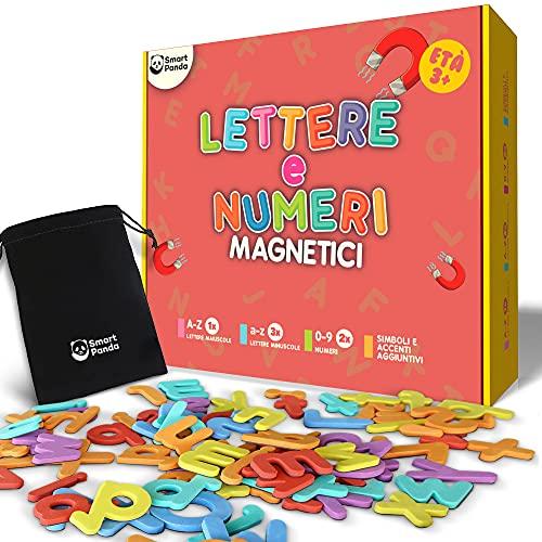 Smart Panda Lettere e Numeri Magnetici per Bambini – Set Alfabeto Magnetico – Magneti per Il Frigo per Bambini - Giochi Educativi per Insegnare a Scrivere e Leggere ai Bambini - con Accenti Italiani