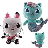 Gabby Dollhouse Plush Doll, Mercat Gabbys Dollhouse 10 '' Gabby Cat Plush para Regalo de fanáticos