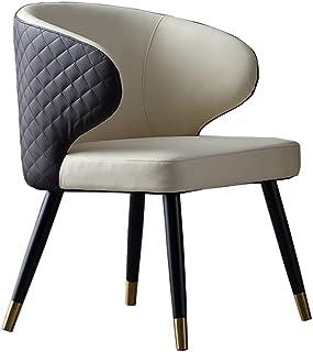 Accesorios para el hogar Juego de sillas de Comedor Sillas de Cocina con Respaldo de cojín Sillas Laterales de Sala de Estar Modernas de Mediados de Siglo para el Comedor del Hotel (Color: Negro Ta