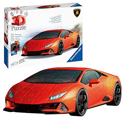 Ravensburger 3D Puzzle 11238 - Lamborghini Huracán EVO - 3D Puzzle für Erwachsene und Kinder ab 8 Jahren, Modellauto, Modellbau ganz ohne Kleber