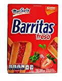 Marinela Barritas Fresa. Delicious Traditional Mexican Strawberry filled fruit bar Cookie. 1 Box (5 packets).