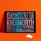 Dibbs Clothing Oasis Knebworth Postpress Gig Poster Liam