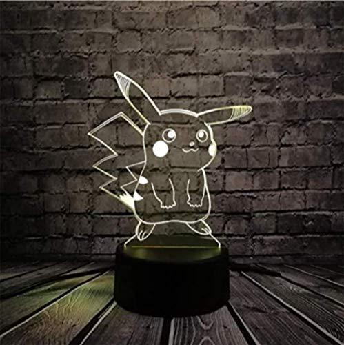 3D Nachtverlichting Led Tafellamp Pokemon Rgb Licht Pikachu Tortoise Fire Dragon Ball Bay Character Gift