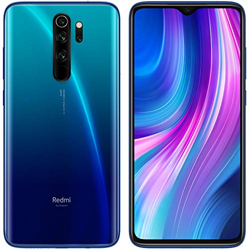 Xiaomi Redmi Note 8 Pro (64GB, 6GB) 6.53', 64MP Quad Camera, Helio G90T Gaming Processor, Dual SIM GSM Unlocked - US & Global 4G LTE International Version (Ocean Blue, 64 GB)