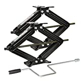 Weize Camper RV Trailer Stabilizer Leveling Scissor Jacks With Handle -24'- 5000lbs - Set Of 2