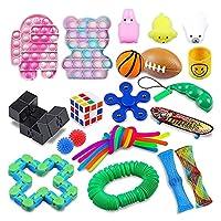 25パック感覚おもちゃセット、プッシュポップポップの自閉症特別ディンプル感覚玩具セット、ディンプル感覚玩具セット子供&成人、ストレスリリーフ、および不安毒物の品揃え (Color : A-25pcs)