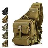 YFNT Tactical Sling Bag Pack Military Rover Schulter Sling Rucksack Umhängetasche für die Jagd Camping Trekking,Wüste Digital