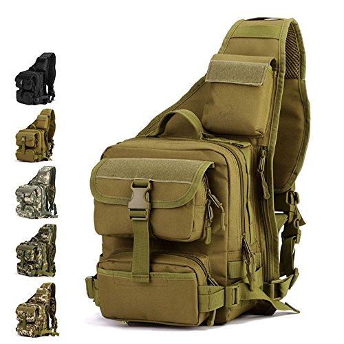 YFNT Tactical Sling Bag Pack Military Rover Shoulder Sling Backpack Crossbody Bag for Hunting Camping Trekking