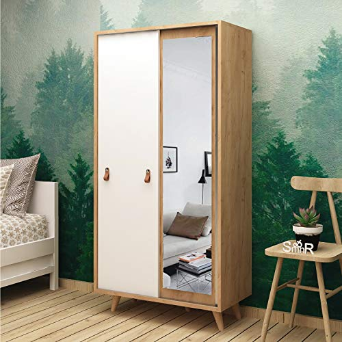 Lowest Prices! Dose Of Modern Yahha Wardrobe 811MDD4906 - Oak White Wardrobe 811MDD4906 - Oak White