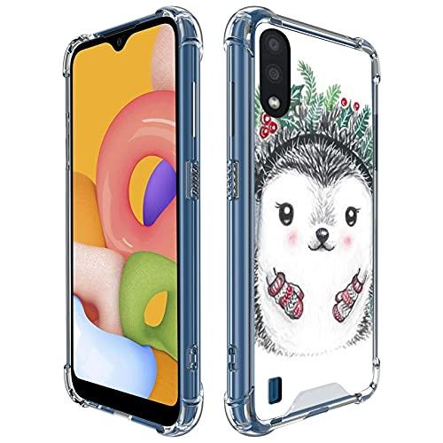 UZEUZA Carcasa transparente para Samsung Galaxy A01 con absorción de golpes y protección completa para Samsung Galaxy A01