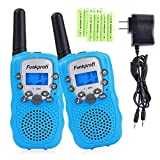 Funkprofi Walkie Talkies for Kids 22 Channels Long Range Rechargeable Walkie Talkies with Battery and Charger, Gift for Boys and Girls, 1 Pair