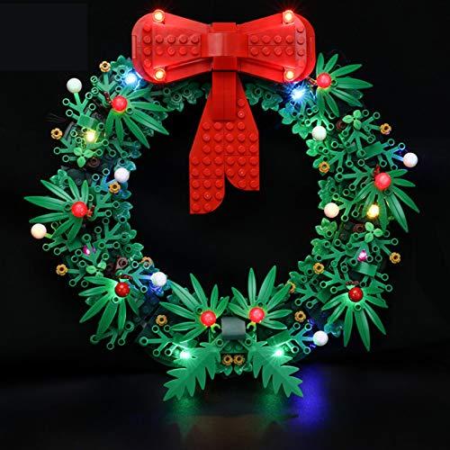 Kit De Iluminación LED para Lego Christmas Wreath 2IN1, Complemento De Juego De Luces LED para Lego Set 40426 (No Incluye Modelo Lego)