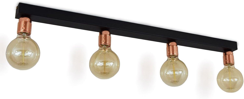 707 Deckenleuchte Deckenlampe Leuchte Modern Schwarz viele Varianten (707-4)