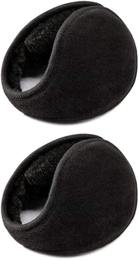 Set of 2 Warm Winter Earmuffs Winter Ear Warmers Covers for Cold Weather Behind The Head Style, D01