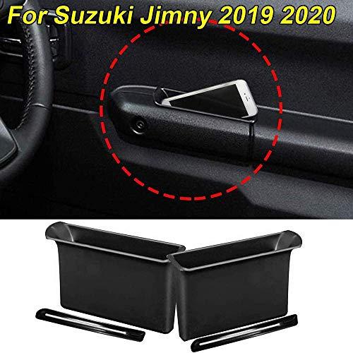 THDM 2 Piezas apoyabrazos Bolsa de manija de la Puerta contenedor de Almacenamiento apoyabrazos Bolsa de Almacenamiento Organizador Cuadro Titular para Suzuki Jimny 2019 2020 Accesorios Interior