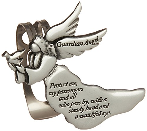 Cathedral Art Guardian Angel Sun Visor Clip-Car and Automotive Accessories, Religious Gifts for Christians or Catholics, Charms for Travel Protection