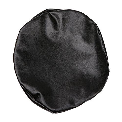 ZHENGBINGF Runde Hocker Stuhl-Abdeckung, elastische PU-Leder-Rundsitzkissen Sleeve für Chiavari, Wedding Restaurant Barhocker Bankett Gastronomie Slipcover.
