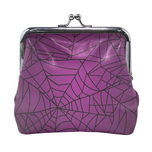 Halloween Spider Web Brieftaschen Mini Geldbörse für Damen Mädchen Damen