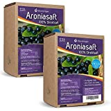 2 x 5L Obsthof Stockinger Aronia Muttersaft Bag in Box Aroniasaft, Sparpaket -