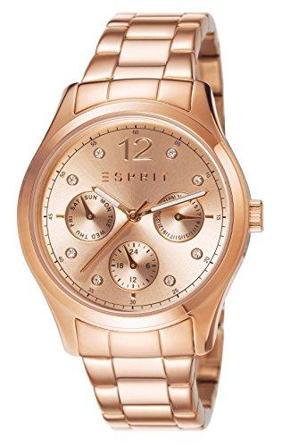 Esprit Tracy - Reloj analógico de cuarzo para mujer, color oro rosa
