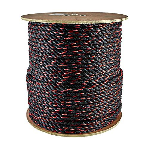 """SGT KNOTS California - Cuerda de polipropileno trenzado para correas de carga, canotaje y más (1/2"""" x 10 pies), color naranja"""