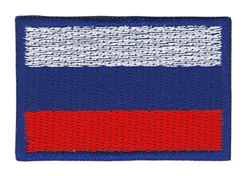 Patch Russland Flagge Klein Russia Aufnäher Bügelbild Größe 4,5 x 3,0 cm